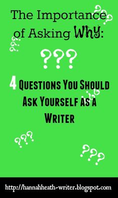 Hannah Heath: The Importance of Asking Why: 4 Questions You Should Ask Yourself as a Writer - these questions will help you come up with a mission statement. Not only is this helpful for marketing, but it's also helpful for your own personal motivation.