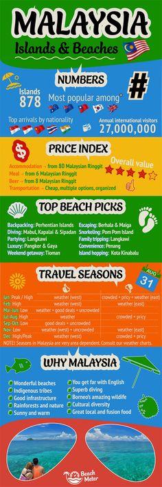 Malaysia & Borneo Travel Guide Infographic