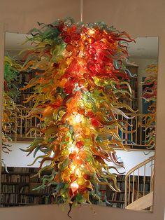 custom glass chandeliers: Autumn Chandelier #270