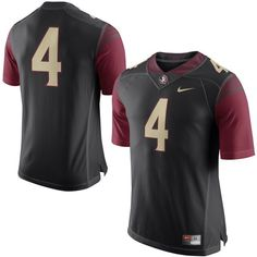 867765f89 Florida State Seminoles Nike No. 4 Limited Football Jersey - Black -  99.99 Florida  State
