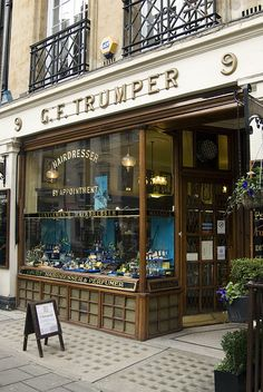 G F Trumper exclusive men's shop in Curzon Street, Mayfair, London, England