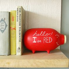 Chalk It To Me Piggy Bank Red now featured on Fab.