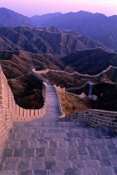 sunset over the Great Wall of China. Oh yeah...