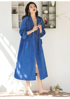 Women's Coat Casual Multicolor Long Trench Plus Size for Spring Autumn – omymarts Girl Dress Patterns, Coat Patterns, Blouse Patterns, Skirt Patterns, Sewing Patterns, Plus Size Fashion For Women, Plus Size Women, Casual Coats For Women, Sewing Coat