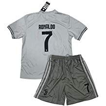 3f25d98eebf VVBSoccerStore New  7 Ronaldo 2018 2019 Juventus Away Jersey  amp  Shorts  for Kids