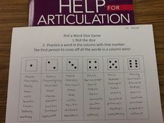 4. Activities for 4-6th grade Liz's Speech Therapy Ideas: Roll a Word…