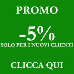 Sconto del 5 % per tutti i nuovi clienti!