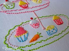 Bunny+and+Her+Cupcakes+Embroidery+PDF+Pattern+por+bumpkinhill,+€5,00