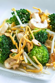 Broccoli Mushroom Salad | Art and the Kitchen delicious salad with Asian inspired dressing.