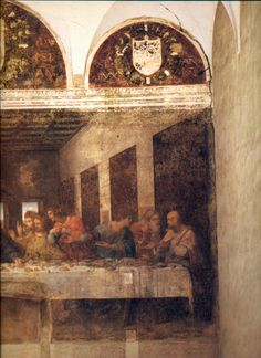 #The #Last #Supper #Il #Cenacolo or #L'#Ultima #Cena, is a late 15th-century mural painting by #Leonardo #da #Vinci in the refectory of the #Convent of #Santa #Maria #delle #Grazie,#Milan, Italy. The work is presumed to have been commenced around 1495 and was commissioned as part of a scheme of renovations to the church and its convent buildings by Leonardo's patron Ludovico Sforza, Duke of Milan. The painting represents the scene of The Last Supper of Jesus with his twelve disciples.