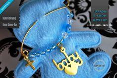 Mommys Boy, Baby Boy, Enamel Jewelry, Fine Jewelry, Swarovski Crystals, Handmade Jewelry, Brooch, Sterling Silver, Gold