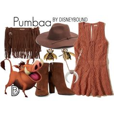 Pumbaa by leslieakay on Polyvore featuring Hollister Co., Giuseppe Zanotti, Rebecca Minkoff, Marc Jacobs, Phase 3, disney, disneybound and disneycharacter