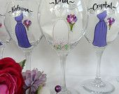 Hand Painted Personalized Bridesmaid Dress Wine by samdesigns22