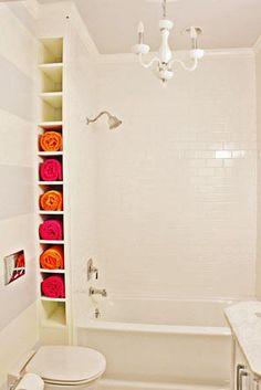 smal stukje over? Misschien iets voor je handdoeken in je badkamer?