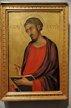 St. Luke - 1330 Simone Martini - Getty Museum  SIMONE MARTINI, indicato talvolta anche come Simone Senese (Siena, 1284 circa – Avignone, 1344)  #TuscanyAgriturismoGiratola