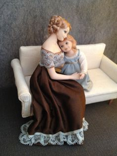 1:12 scale dolls, Hugs. made by Christa's Doll's.