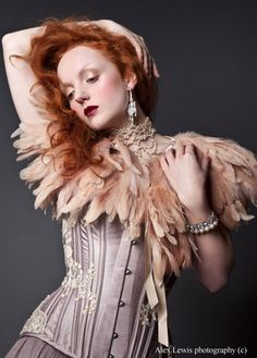 Ivory Flame in a lilac Sparklewren corset. My Life Style, My Style, Redhead Fashion, Corset Costumes, Lily Cole, Vintage Corset, My Fair Lady, Red Hair Color, Photography Poses