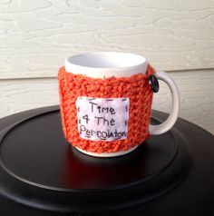 Time for the percolator cup cozy crochet mug cozy by mandag433