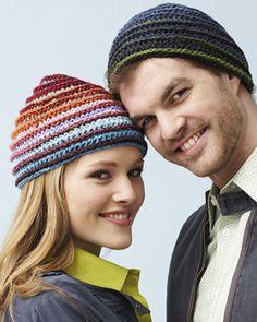 Free Crochet Mosaic Spiral Hat Men/Women Pattern.