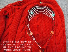 How to knit seamless set-in sleeves from the top down | By Gum, By Golly