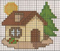 This post was discovered by Ch Cross Stitch House, Mini Cross Stitch, Cross Stitch Cards, Cross Stitch Flowers, Cross Stitching, Cross Stitch Embroidery, Embroidery Patterns, Cross Stitch Designs, Cross Stitch Patterns