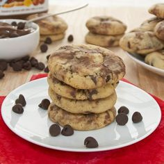 Peanut Butter Nutella Swirl Chocolate Chip Cookies {Sweet Pea's Kitchen}