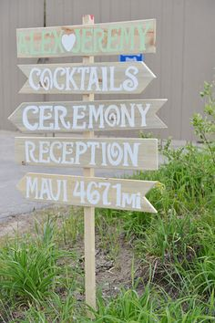 Wedding Signage (Love how they incorporated their honeymoon!)