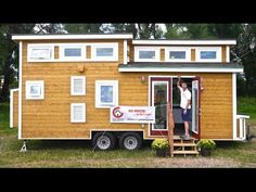 A steel frame lofted tiny house on wheels in Chattanooga, Tennessee. Designed and built by Tiny House Chattanooga.