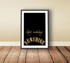 Good morning sunshine stampa tipografica luce di PrintableColors