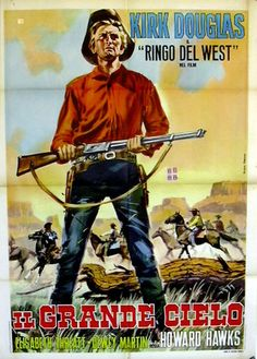 THE BIG SKY (1952) - Kirk Douglas - Directed by Howard Hawks - RKO-Radio Pictures - Spanish movie poster.
