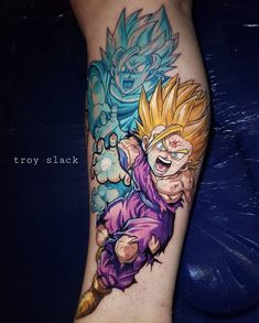 New tattoos. Thanks  you're an absolute legend. Thanks  for holding my hand while I squirmed for 16 hours like a little girl 😂 Red Tattoos, Anime Tattoos, Body Art Tattoos, Cool Tattoos, Dbz, Culinary Tattoos, Gohan, Comic Tattoo, Best Sleeve Tattoos