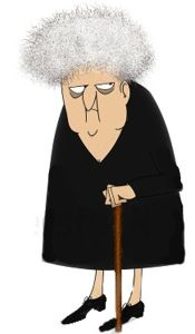 Stock Photo Funny Cartoon Of A Crotchety Old Woman Looking Sideways 62010205 Copy2 The Colley House Old Lady Cartoon Stock Photos Funny Old People Cartoon
