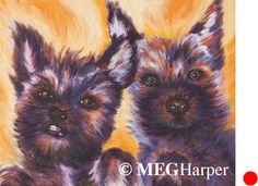 Monte and Figaro Pet Portrait ~ Meg Harper ~ Meg Harper Art   Are you looking for a painting of your magnificent pet? Have Meg create a pet portrait just for you, today.    #dog #puppy #best friend #inspirational #kindness #animalpainting #art #painting #pets #petportrait #animal #love #megharper #megharperart
