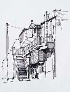 arquitectonico Toronto Urban Sketchers : Meet the Correspondents : Marek Badzynski Building Drawing, Building Sketch, Landscape Sketch, Landscape Drawings, Simple Landscape Drawing, Art Sketches, Art Drawings, Fashion Sketches, Cityscape Drawing