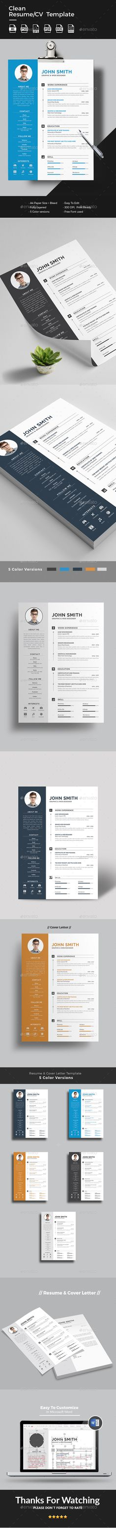 Chef Resume Template  Page Booklet