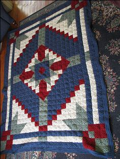 Happy Yellow House.com - Desert Star Crochet Quilt - by C. L. Halvorson ~ free pattern