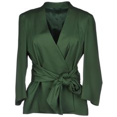 Tonello Blazer (1.850 ARS) ❤ liked on Polyvore featuring outerwear, jackets, blazers, tops, coats, military green, light weight jacket, military blazer, military style blazer and green jacket