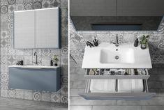 Minimalist blue bathroom furniture from Utopia Bathrooms. Industrial Bathroom Design, Minimalist Bathroom Design, Minimalist Home Decor, Minimalist Interior, Minimalist Living, Minimalist Design, Blue Bathroom Furniture, Blue Bathroom Vanity, Small Bathroom Vanities