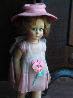 Rare and mint in box Lenci doll. Tagged