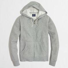 Factory fleece full-zip hoodie