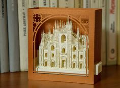 Miniature Cathedrals Miniature Architecture art by ColibriGift Birthday Greetings, Birthday Cards, Milan Cathedral, Cathedral Church, Laser Paper, Pop Up Cards, 3d Cards, Gift Envelope, Birthday Gift For Wife