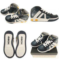GEOX jongens schoenen Gregg #trendykleertjes #geox #gregg #navy #jongensschoenen