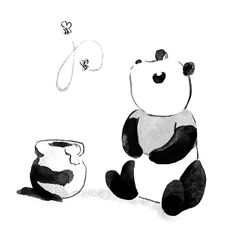 Pandagrams: Poohda by Genevieve Bergeson (See more at drawstheeventide.com.)