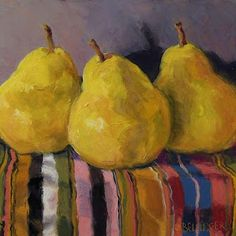 Jennifer Bellinge, Still life with pears