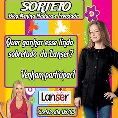 #O Blog Menina Madura e Prendada Parceria c/ Lanser Confecções sortearão um lindo sobretudo