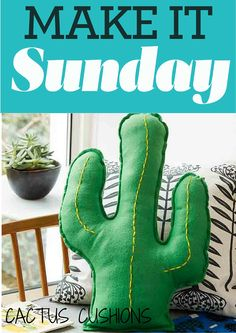 How to make this eye-catching cactus cushion in three easy steps... #craft #makeitsunday