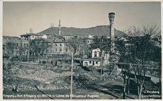 1900'lü yılların başı-Ankara Tren İstasyonu     1900'lü yılların başı-Çubuk Çayı ve Akköprü     1900'lü yılların başı-Julien Sütunu, solu...