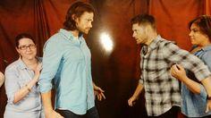 J2 photo starring Jared as Gadreel!Sam, Jensen as Mark of Cain!Dean #DCcon 2014