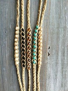 Beaded Hemp Wish   Friendship Bracelet  More by psihandmadeit: