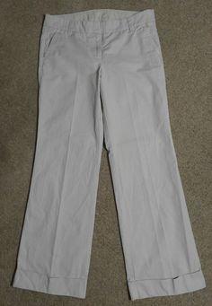 $19.95 + $5.95 S&H J. Crew 8 Regular Khaki Pants City Fit Cuffed Beige Chino 100% Cotton 33x32 #JCrew #KhakisChinos